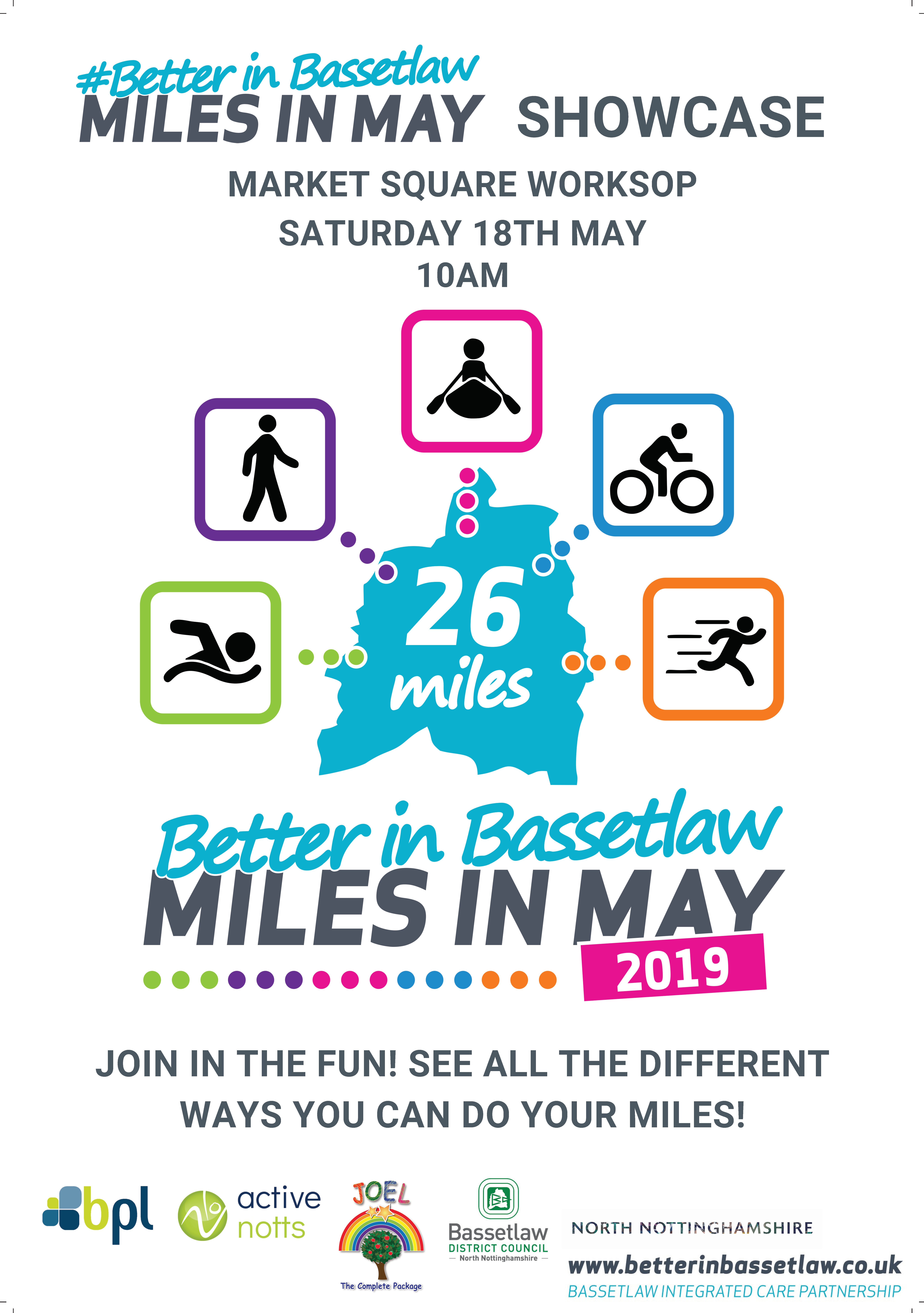 Miles in May showcase event worksop saturday 18 may 2019 bassetlaw better in bassetlaw