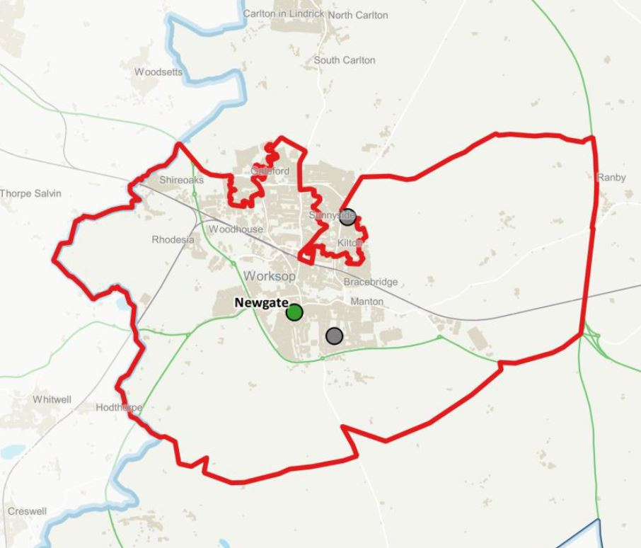 newgate primary care network footprint - bassetlaw district