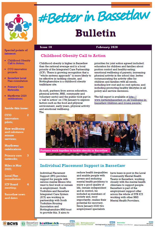 Front Page - Better In Bassetlaw Bulletin February 2020